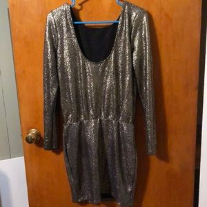 Women's glittery mini dress
